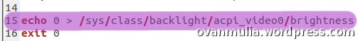 Permasalahan Brightness Ubuntu 11.10 di Notebook